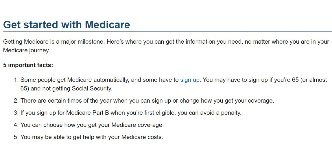 Get Started with Medicare