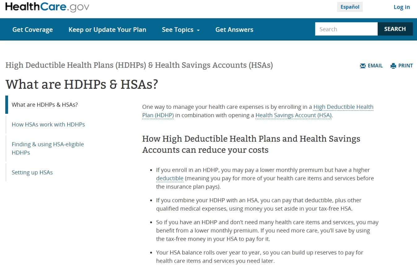 High-Deductible Health Plans (HDHPs) + Health Savings Accounts (HSAs)