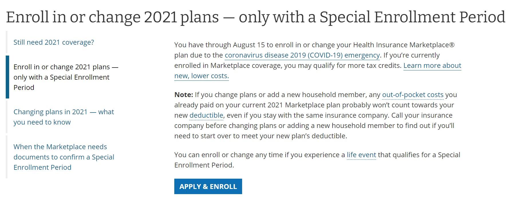 Medicaid - Special Enrollment Period (SEP)