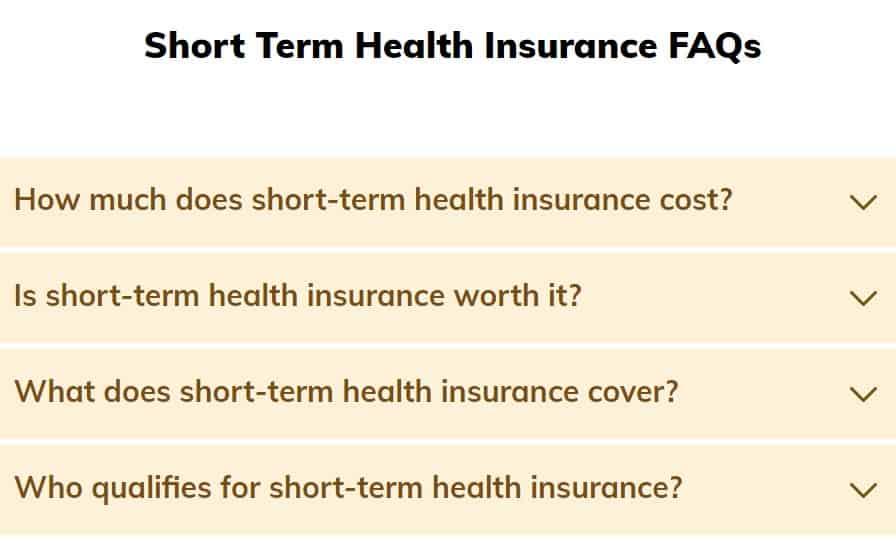 Temporary Health Insurance FAQs