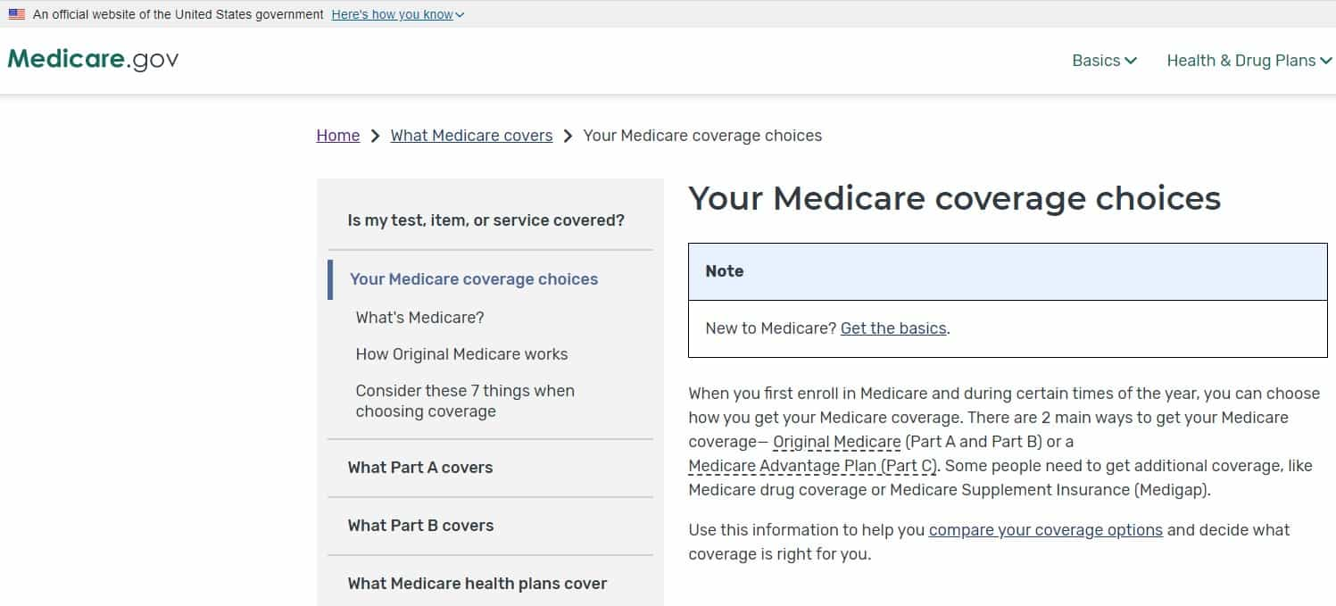 Using HSAs with Social Security and Medicare - Your Medicare coverage choices