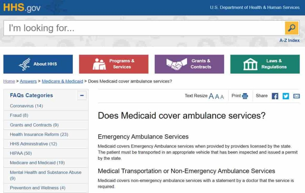 Does Medicaid Cover Ambulance Services