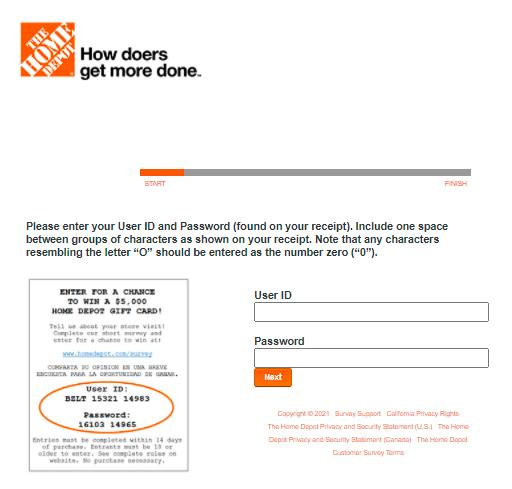 Home-Depot-5000-Gift-Card-Survey-At-www.HomeDepot.com-survey