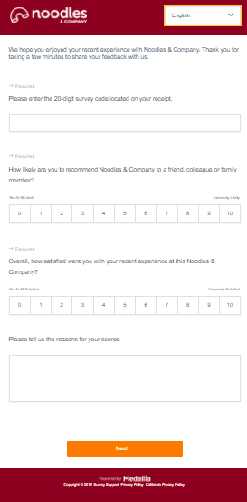 Tell-Noodles-Survey-Homepage-at-Feedback.noodles.com