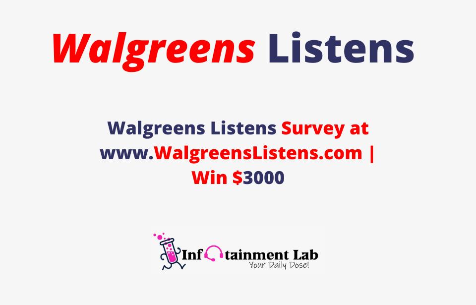 WalgreensListens-Survey-at-www.WalgreensListens.com